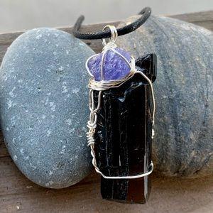 Tanzanite & Black Tourmaline Necklace